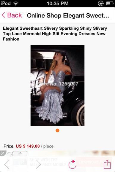 lace dress prom dress prom dresses 2014 grey dress silver dress silver dress with lace