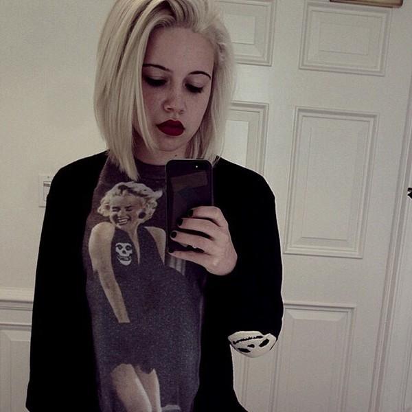 top Beatrice Miller cardigan shirt marilyn monroe