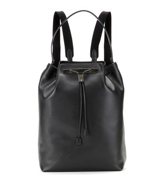 backpack leather backpack leather black bag