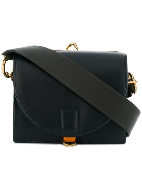 women bag leather blue