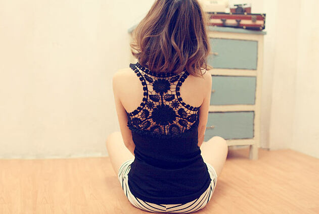 Pretty Summer Hollow Crocheted Lace Tank Top 2014, Lace Top 2014, Top, Tops on Luulla