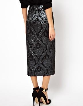 ASOS | ASOS Pencil Skirt in Luxe Jacquard at ASOS