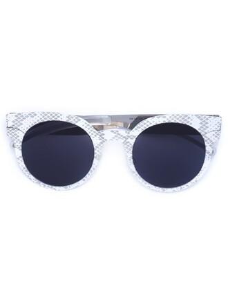 metal women python sunglasses black