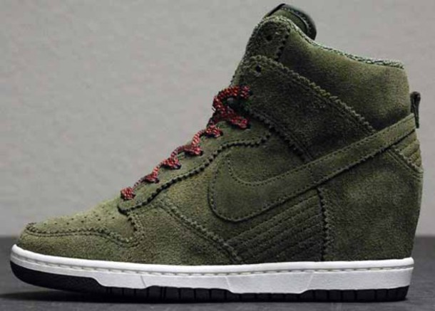 quality design 7ca14 15c4e shoes green nike dunk sky hi perfect look style girl girl
