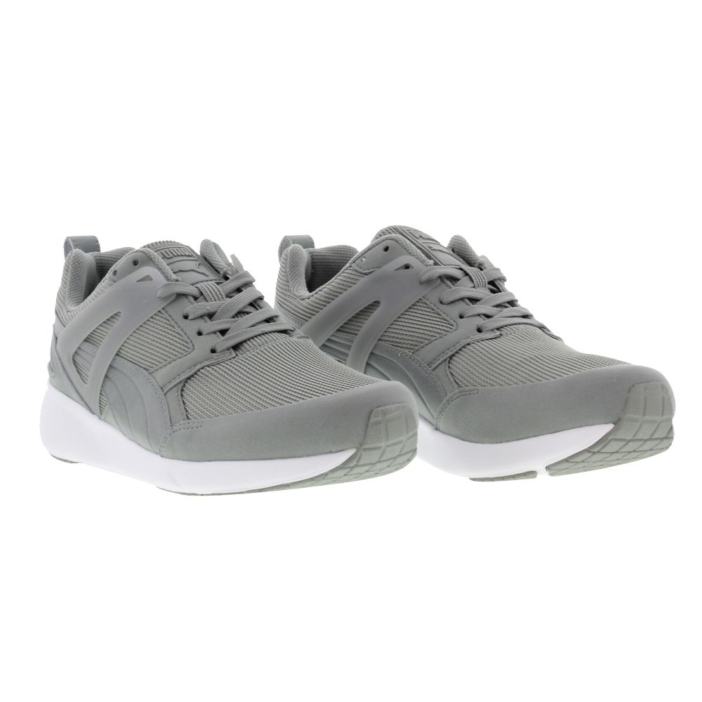 Puma trainers, arial limestone grey dark shadow