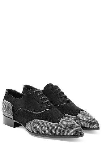 studded oxfords suede black shoes