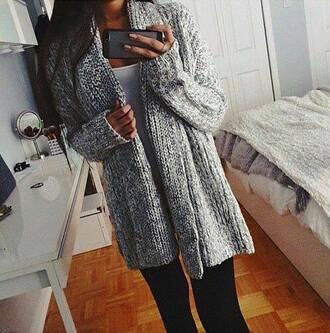 cardigan grey grey cardigan long long cardigan