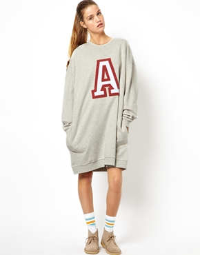 ASOS | ASOS Massive Sweat Dress With 'A' Applique at ASOS