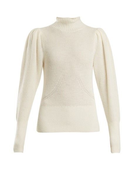 FRAME sweater high wool knit cream