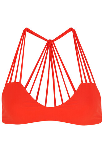 bikini bikini top cutout bikini orange bright swimwear