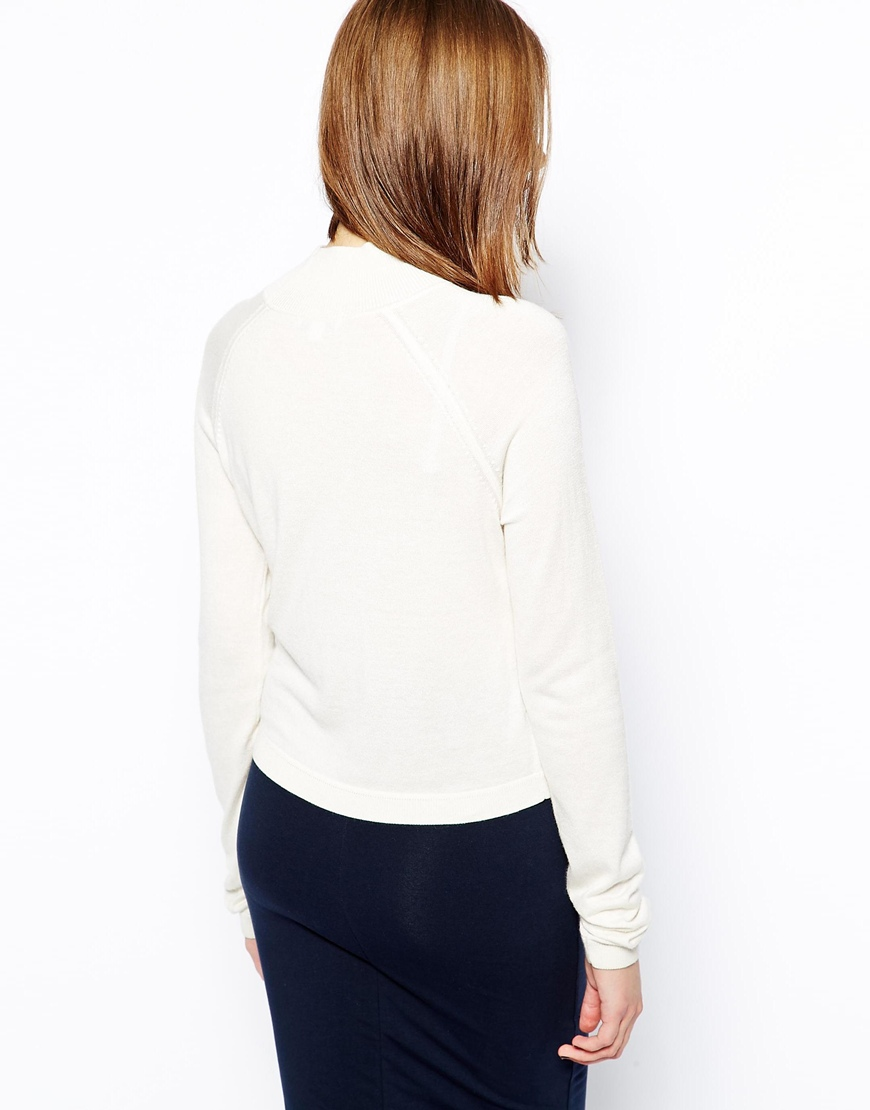 Whistles Ella Cropped Jumper with Turtle Neck at asos.com