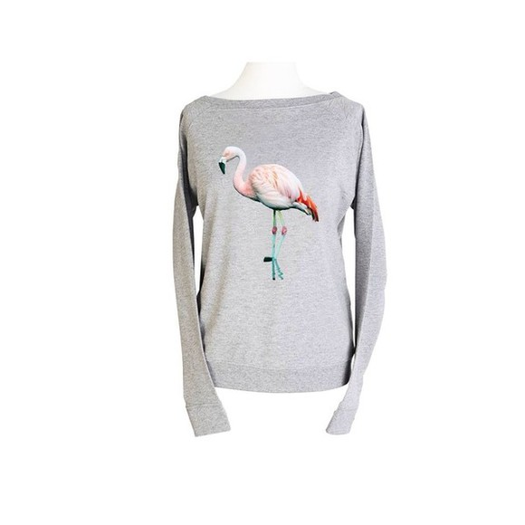 shirt grey shirt flamingo pink flamingo