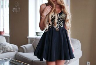 dress strapless studded studs studded dress navy skater dress skater skirt strapless dress