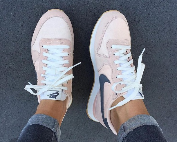 Shoes Blush Pink Grey Nike Pink Blue Sneakers Nikes Pink And