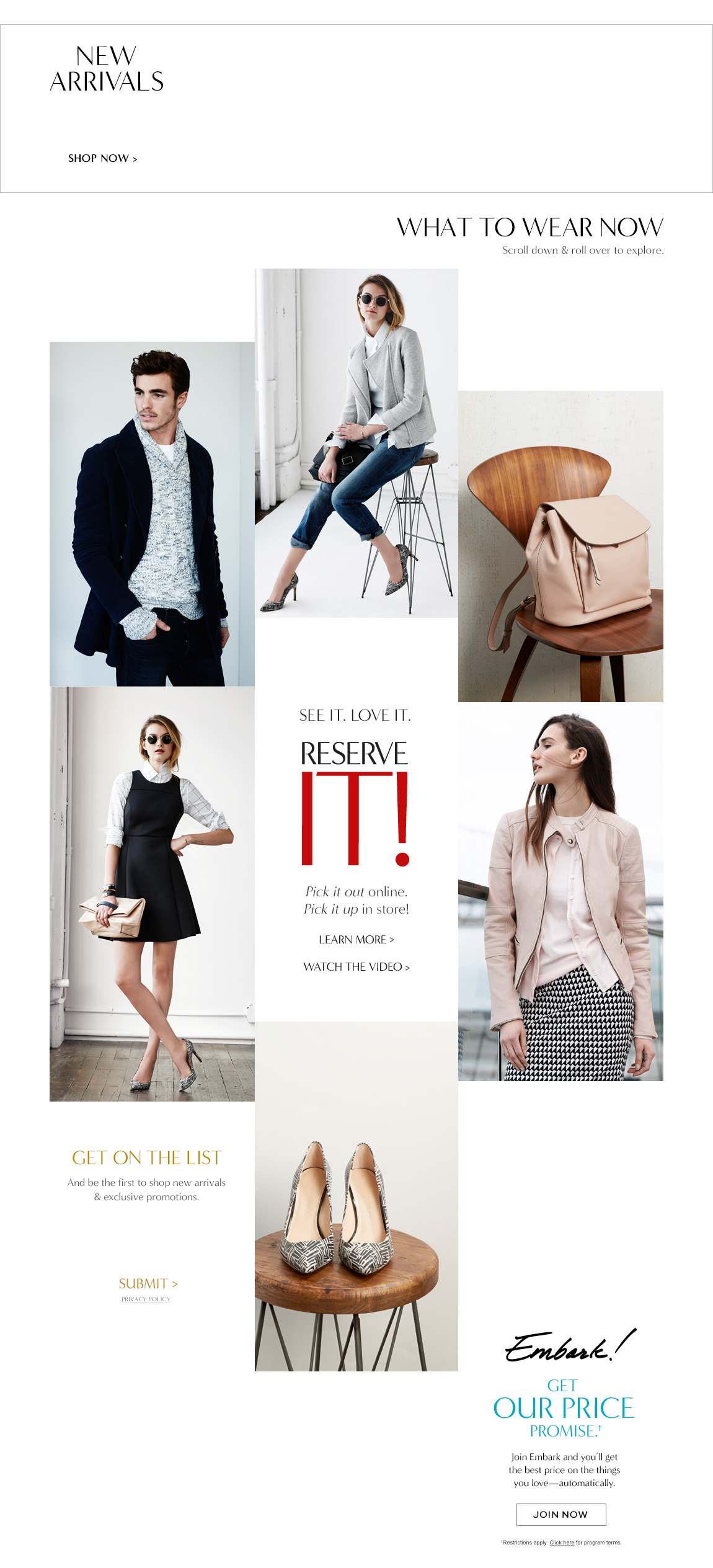 Clothes, shoes, and accessories for women and men