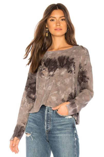 Splendid Crescent Sweatshirt in gray