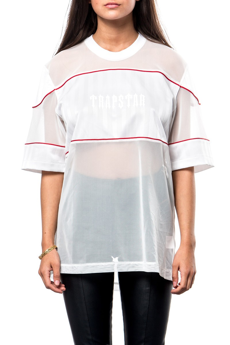 X Ray football shirt (white) - Womens | Trapstar