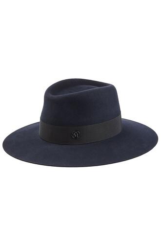 hat felt hat blue
