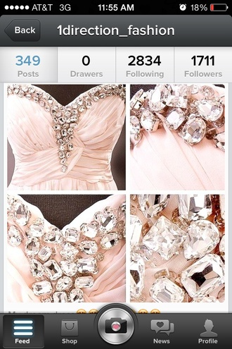 dress pastel pink jewels diamonds i'm in love