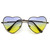 Super Cute Retro Metal Heart Shape Sunglasses With Rainbow Color Lens                            | zeroUV