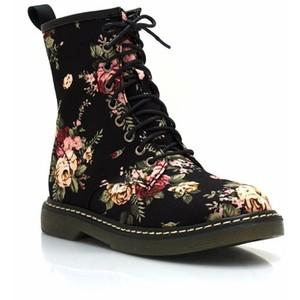 floral combat boots. Black Bedroom Furniture Sets. Home Design Ideas