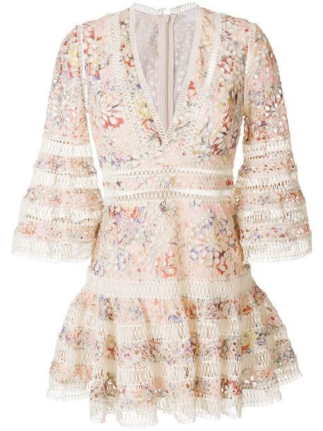 dress women floral nude cotton
