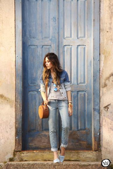 jacket denim jacket fashion coolture blogger bag jewels ombre
