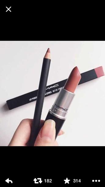 make-up mac cosmetics lip liner lipstick lips mac lipstick