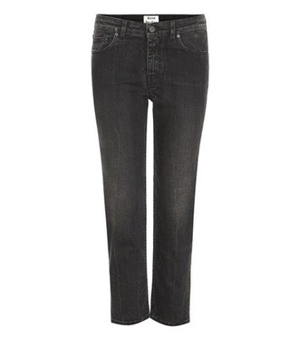jeans straight jeans cropped black
