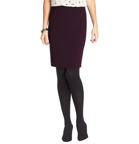 Pencil Skirt in Mid Weight LOFT Scuba | Loft