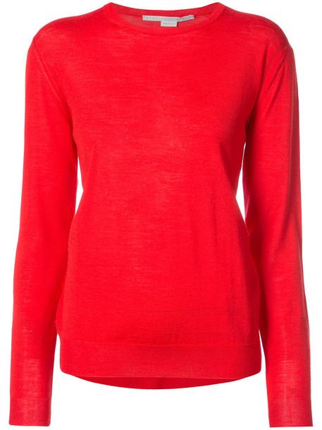 Stella McCartney jumper women wool knit red sweater