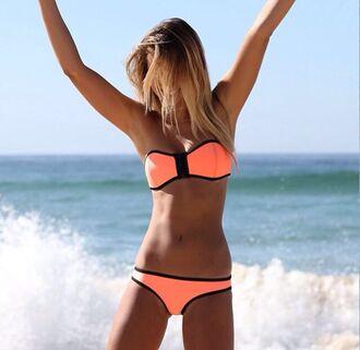 swimwear coral bikini triangle bikini