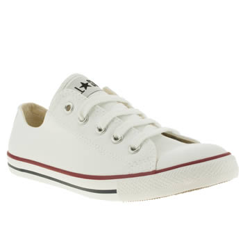 Women's White Converse All Star Dainty Canvas Trainers | schuh