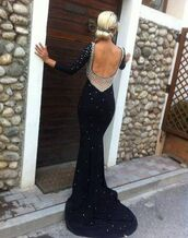 dress,black dress,prom dress,beaded dress,long sleeves,backless,prom,sexy dress,long black dress,white pearl,prom gown,skirt,shirt,long dress,formal,backless dress,formal dress,pearl,black,open back dresses,black prom dress,black beaded dress,black backless,black backless dress with pearl embellishment,with pearls,long,lowcutback,pearl dress,navy,beaded long dress