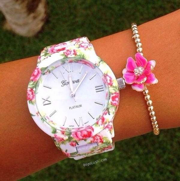 jewels watch floral