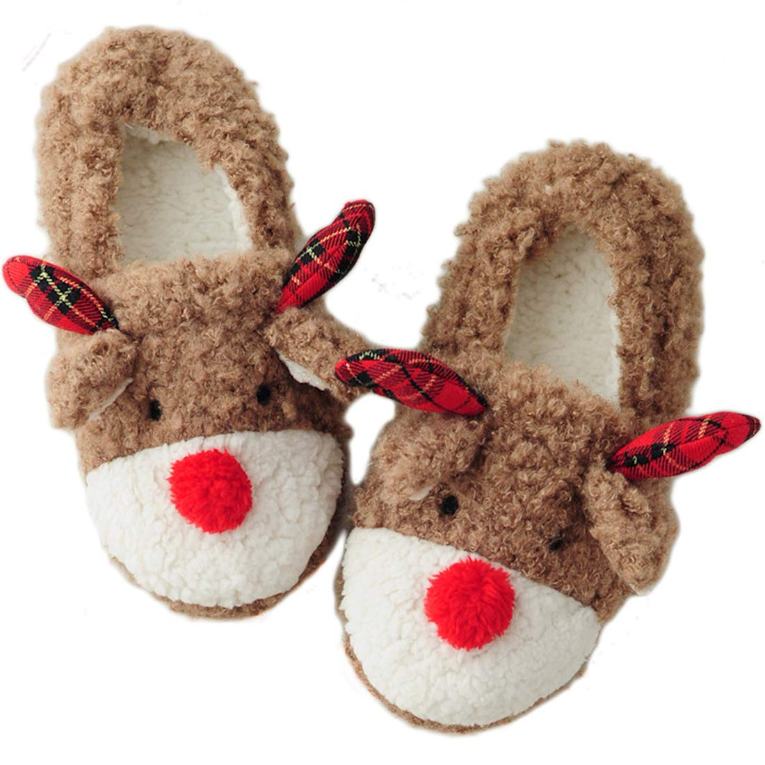 Amazon.com | Snowdeer Women's Reindeer Bedroom Slippers | Slippers