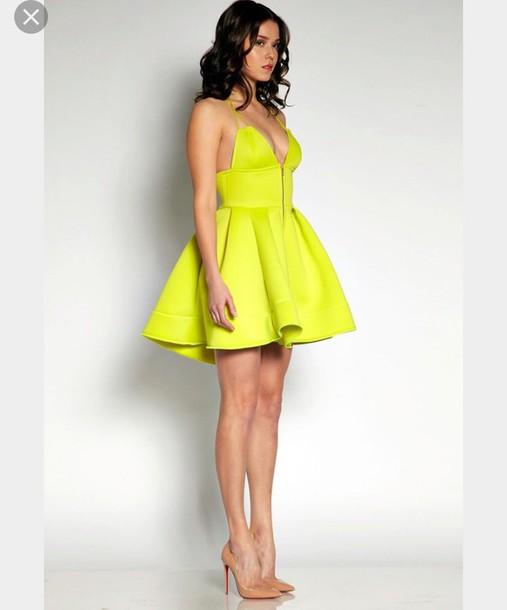 dress yellow dress party dress summer dress mini dress