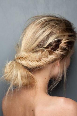 hair accessory braid hairstyles blonde hair bun date outfit