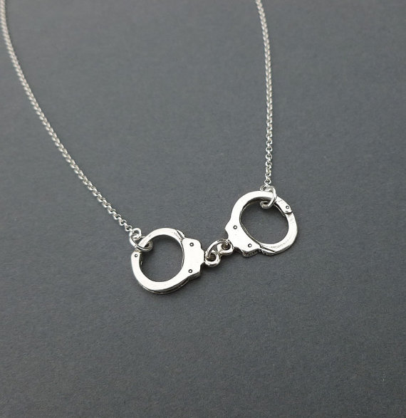sterling silver handcuff necklace gift for by cravejewelrydesign