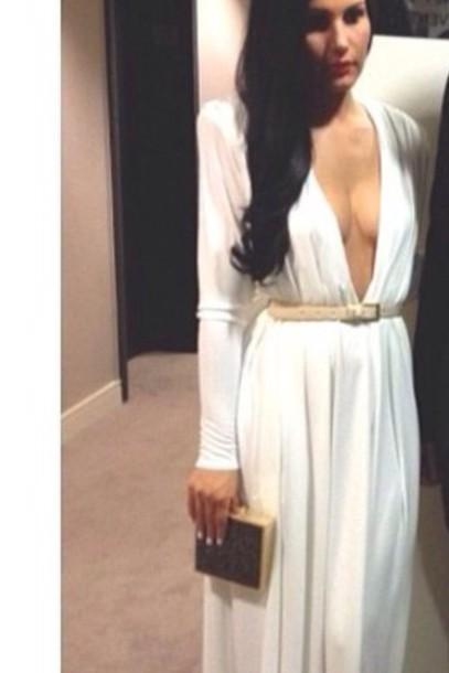 dress white maxi