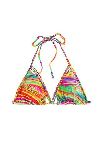 bikini bikini top triangle bikini triangle multicolor swimwear