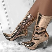shoes,matelic,boots,heel,heels,ankle boots,gold boots,silver,silver shoes