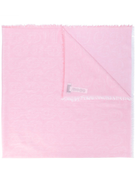 coach women scarf cotton purple pink