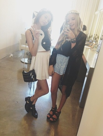 skirt madisenrosebeauty1 makeupbymandy24 blue skirt boho chic t-shirt shoes cardigan bag