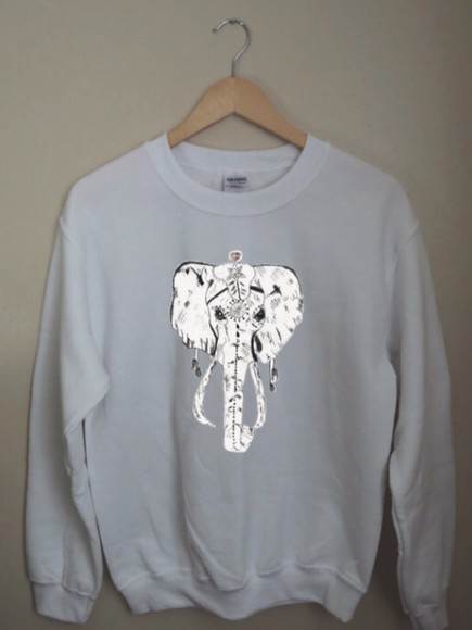 top crewneck sweater style white t-shirt dope elephant too sassy whitecotton night sleep aztec etsy bag tribal pattern diamonds brandy melville