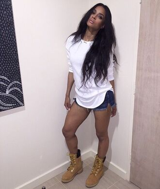 shoes timberlands ciara top boots white brown wheat timberlands
