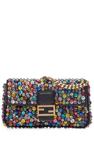 embellished bag shoulder bag leather multicolor