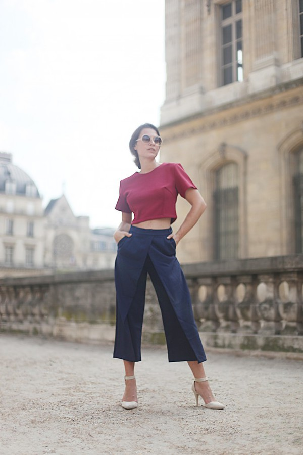 frassy blogger top culottes