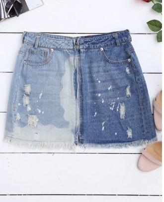 skirt girly denim denim skirt frayed denim