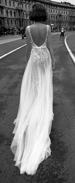 Open Back Vintage Wedding Dress